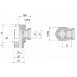 Соединение поворотное 24-BSE-S12-M18E