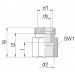 Соединение переходное 24-S-L8-IG1/4