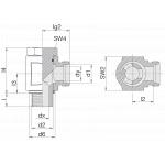 Соединение поворотное 24-BEE-L18-G1/2B