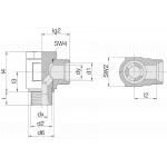 Соединение поворотное 24-BCE-L15-G1/2B