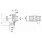 Соединение поворотное 24-BCT-S10-M16E-P