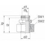 Соединение регулируемое 24-SWS-S25-S20