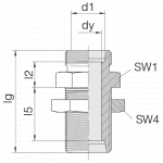 Соединение переборочное 24-BHSLN-S14
