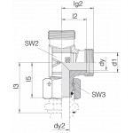 Соединение с гайкой 24-SWOL-L8-P