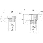 Переходник GP-SDS-G1/2B-IG1/4