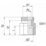 Соединение переходное 24-S-L10-IG1/4