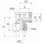 Соединение с гайкой 24-SWOE-L8-P