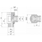 Соединение поворотное 24-BEE-S12-G3/8E