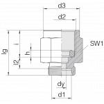 Соединение для манометра 24-PGS-L8-IG1/4B