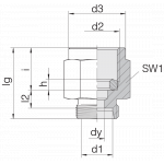 Соединение для манометра 24-PGS-S8-IG1/2B