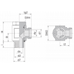 Соединение поворотное 24-BEE-L15-M18E