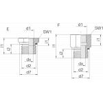 Переходник GP-SDS-G1/2E-IG3/4