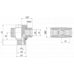 Соединение поворотное 24-BCT-L10-M14E-P