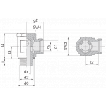 Соединение поворотное 24-BSE-L8-G1/4B
