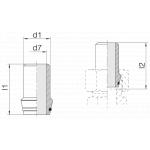 Ниппель приварной 24-WDNPSO-10x1,5-C10
