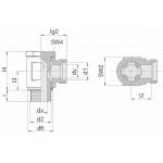 Соединение поворотное 24-BSE-L8-M12B