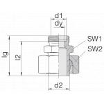 Соединение регулируемое 24-SWS-S16-S8