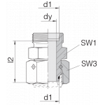Соединение с гайкой 24-SWOS-L22