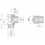Соединение поворотное 24-BCE-L12-G3/8E