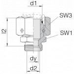 Соединение с гайкой 24-SWOS-L28-S16