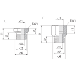 Переходник GP-SDS-G1/4B-IG1/2
