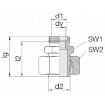 Соединение регулируемое 24-SWS-S30-S8