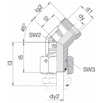 Соединение с гайкой 24-SWOE45-L12