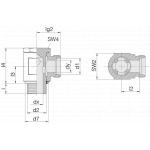 Соединение поворотное 24-BSE-S6-M12E