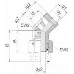 Соединение с гайкой 24-SWOE45-L18