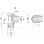 Соединение поворотное 24-BCE-S30-G11/4B