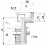 Соединение переборочное 24-BHELN-L8