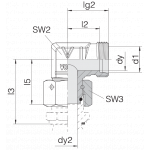 Соединение с гайкой 24-SWOE-L28