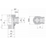 Соединение поворотное 24-BSE-L6-G1/8E