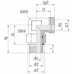 Соединение с контргайкой 24-SDAE-L10-G1/4E