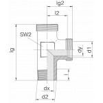 Соединение штуцерное 24-SDL-L8-M12T-P