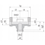 Соединение трубное 24-T-L12-L12-L8-P