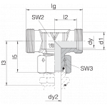 Соединение с гайкой 24-SWOT-S14