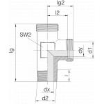 Соединение штуцерное 24-SDL-L8-R1/4T-P