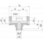 Соединение трубное 24-T-S25-S16-S25