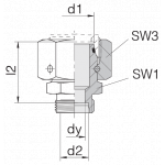 Соединение с гайкой 24-SWOS-S16-S14