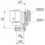 Соединение с гайкой 24-SWOS-S38-S16