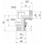 Соединение с контргайкой 24-SDAE-L10-M12F