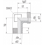 Соединение штуцерное 24-SDE-L10-R1/4T-P
