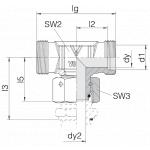 Соединение с гайкой 24-SWOT-S20-HB