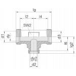 Соединение трубное 24-T-L12-L12-L10-P