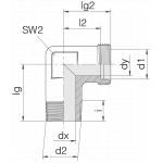 Соединение штуцерное 24-SDE-L10-R1/8T-P