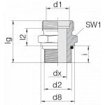 Соединение штуцерное 24-SDS-S25-U11/16-12F