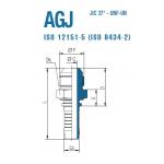 "Штуцер AGJ 1""5/16-12 25"