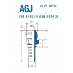 "Штуцер AGJ 1/2""-20 06"