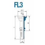 """Фланец FL3 1"""" 19"""